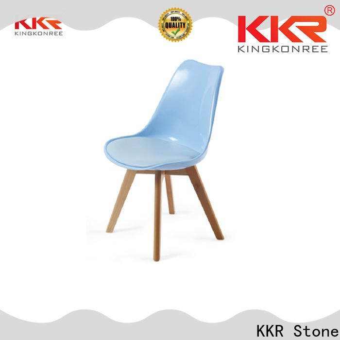KKR Stone beautiful plastic dining chairs type for outdoor
