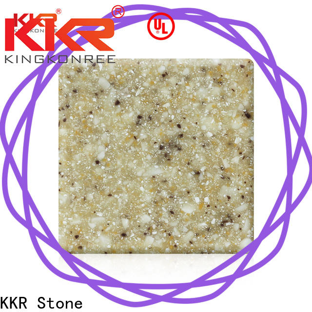 KKR Stone No bubbles modified acrylic solid surface superior chemical resistance furniture set