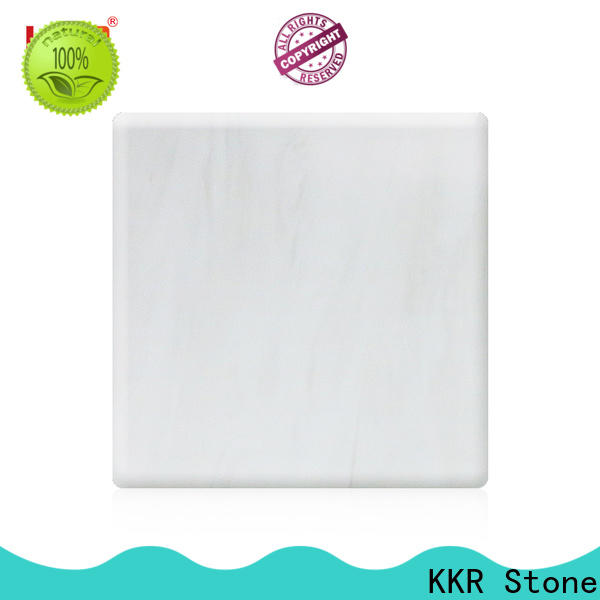 KKR Stone radiation free veining pattern solid surface manufacturer for garden table