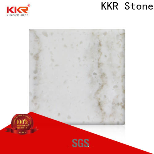 KKR Stone high strength solid surface slab factory for bar table
