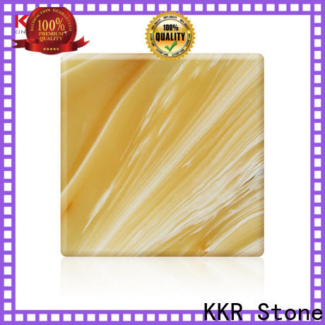 KKR Stone luxury translucent solid surface material factory price for bar table