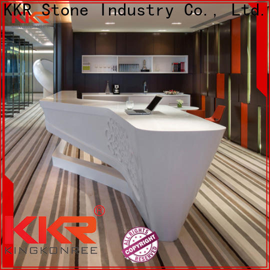 KKR Stone royal acrylic solid surface worktops widely-use for bar table