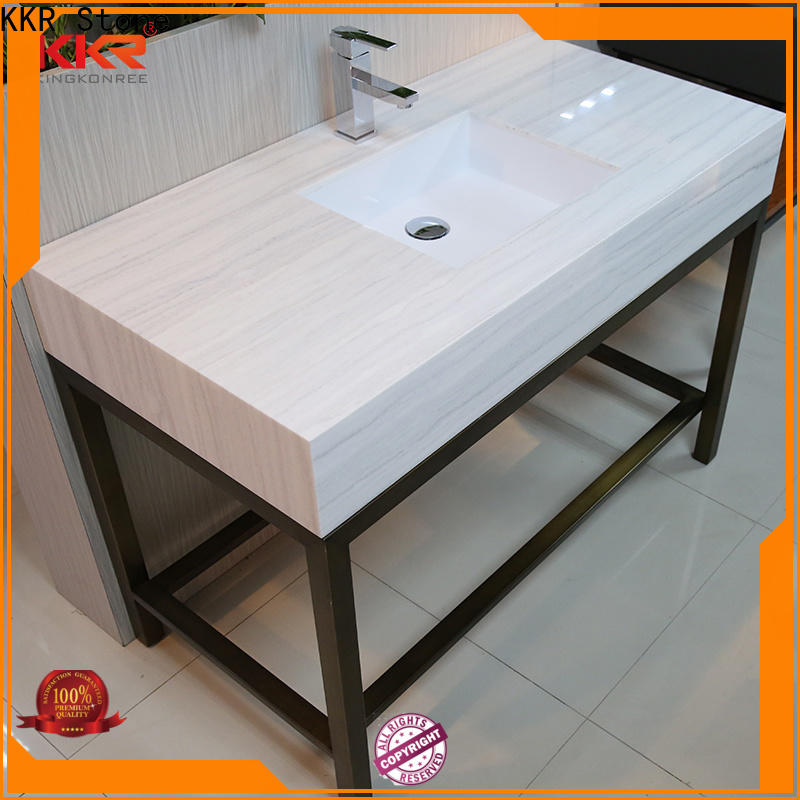 good Quality solid surface bathroom countertops sink in-green for worktops