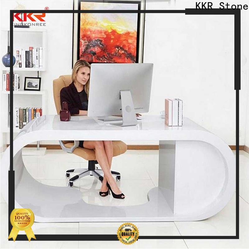 KKR Stone fashion design solid surface reception desk custom-design for kitchen tops