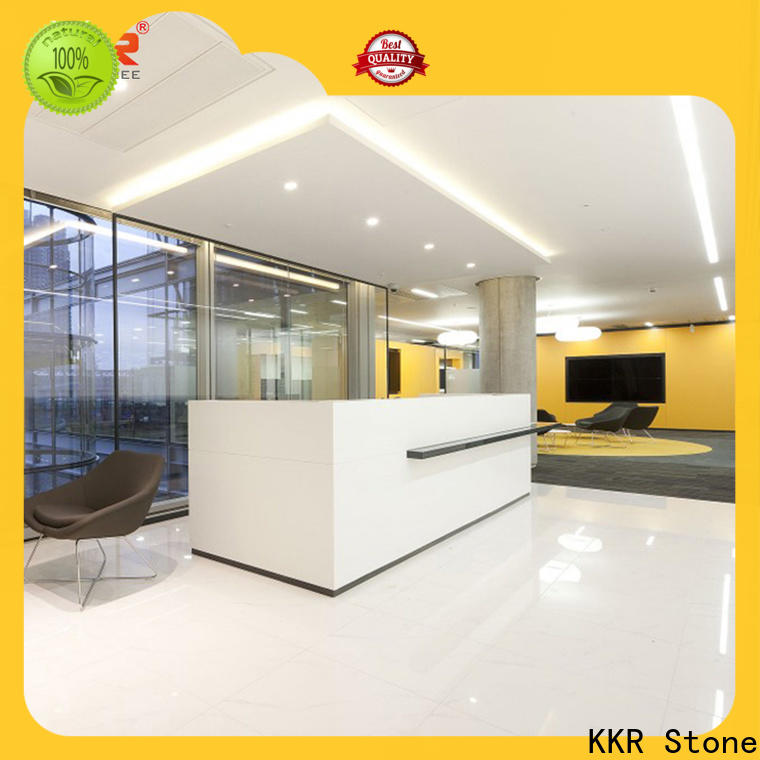 KKR Stone office reception desk countertop certifications for home