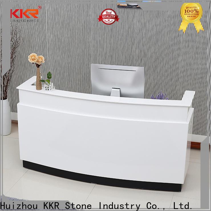 KKR Stone bar acrylic solid surface worktops custom-design for school building