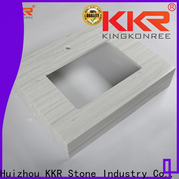 KKR Stone pattern vanity top bathroom supplier for kitchen tops