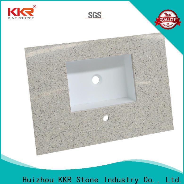 KKR Stone single bathroom vanity tops in-green for kitchen tops
