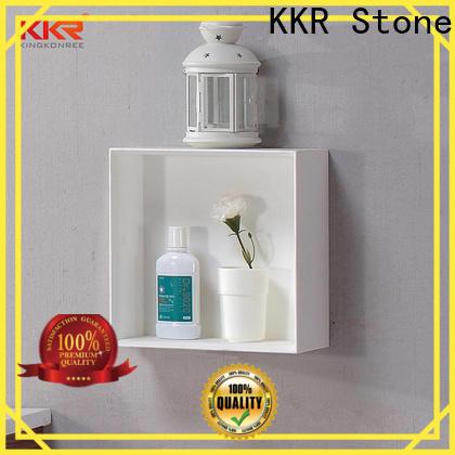 custom-made acrylic bathroom shelf factory for hotel