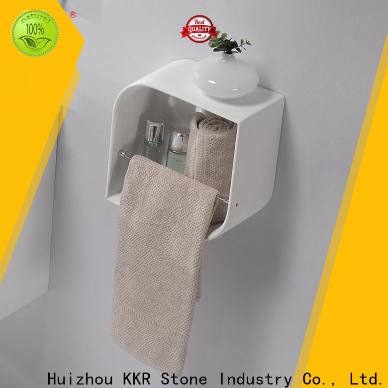 KKR Stone solid Surface acrylic bathroom shelf inquire now for home
