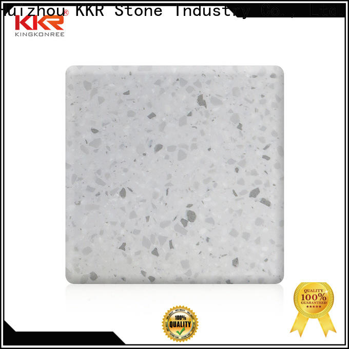 KKR Stone white solid surface factory superior stain for table tops