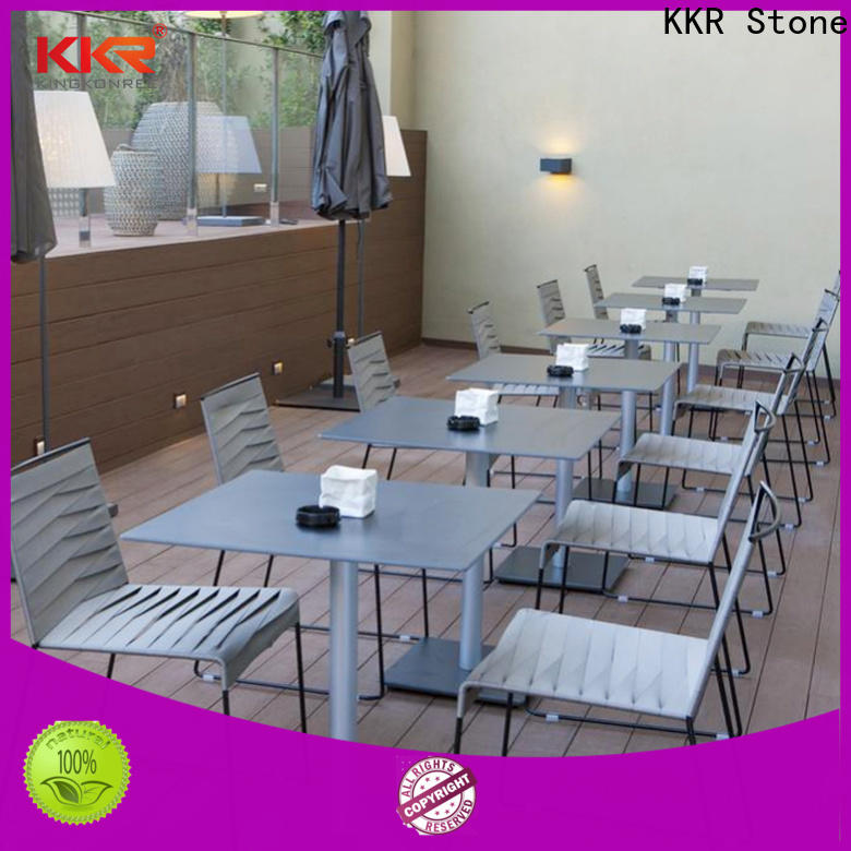 KKR Stone acrylic artificial stone dining table