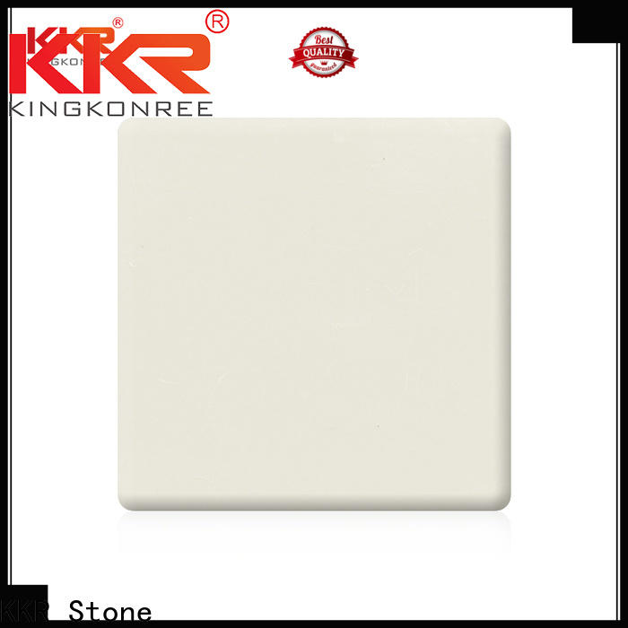 KKR Stone marble modified acrylic solid surface superior chemical resistance for worktops