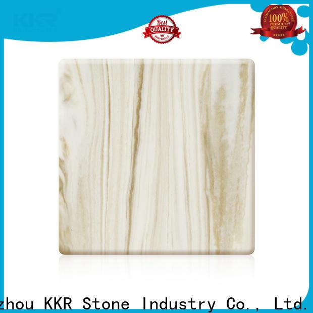 KKR Stone flame-retardant solid surface free design for school building