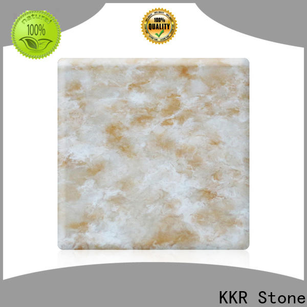 KKR Stone radiation free corian solid surface sheet factory for garden table