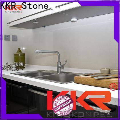 KKR Stone shape kitchen quartz countertops supply for home