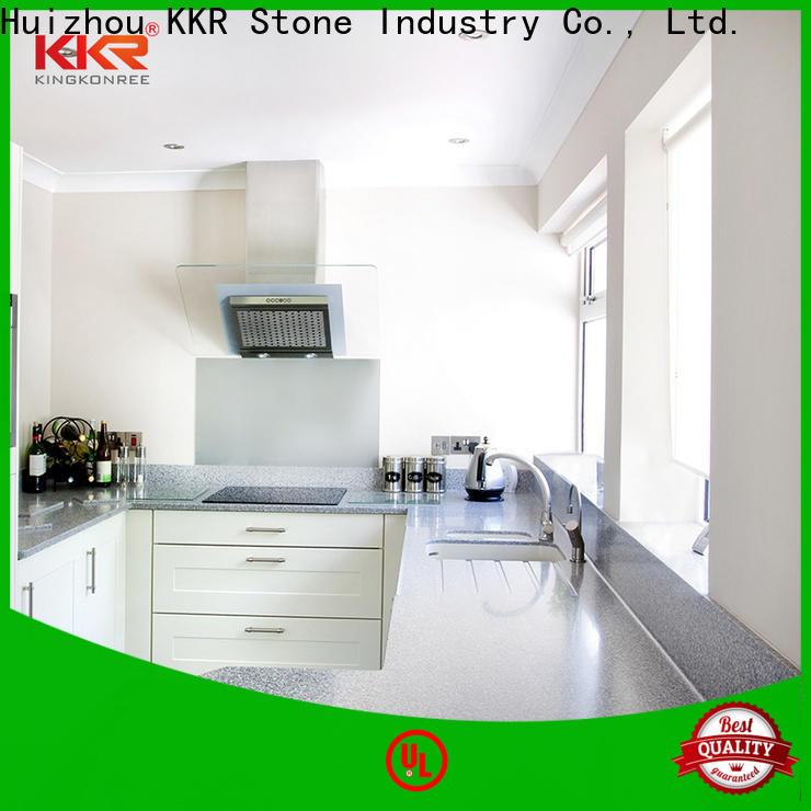 KKR Stone silky kitchen quartz countertops producer for early education