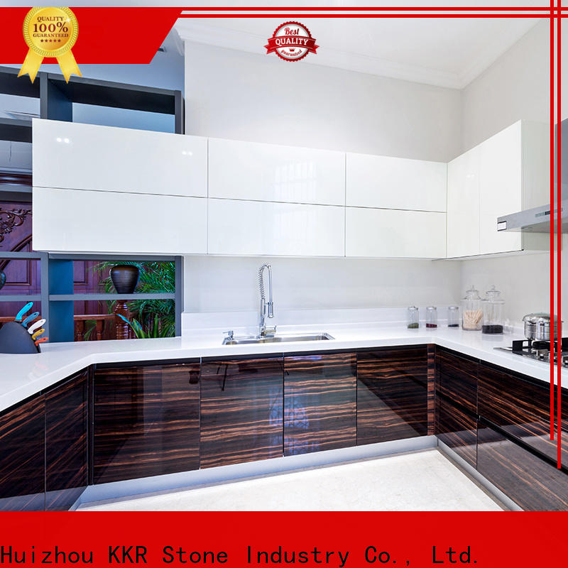 KKR Stone surface solid kitchen countertops wholesale for garden table