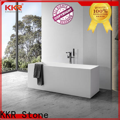 KKR Stone free standing tub manufacturer for bathroom
