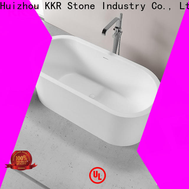 KKR Stone unique solid surface tub factory price for bathroom