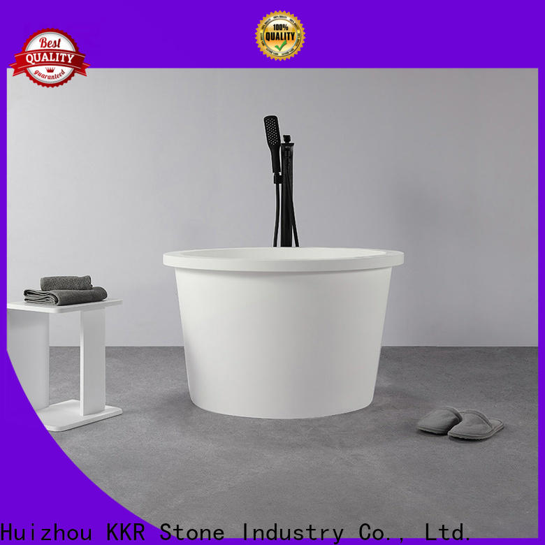 KKR Stone fine- quality solid surface shower pan directly sale for building