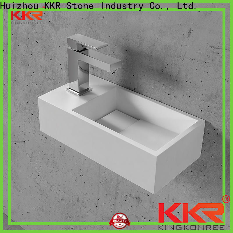 KKR Stone lassic style solid surface wash basin bulk production for table tops