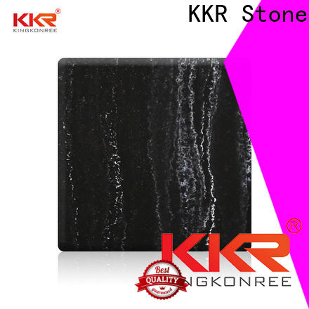 KKR Stone black veining pattern solid surface for early education