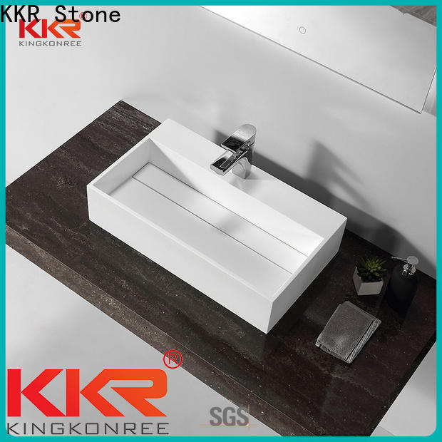 easily repairable countertop basin in special shapes for home