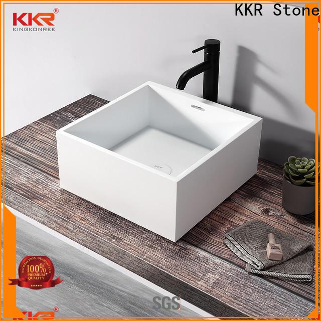 KKR Stone lassic style corian bathroom sinks bulk production for home