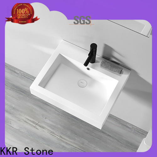 KKR Stone solid surface wash basin supply for school building