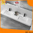 KKR Stone corian basin in special shapes for kitchen tops