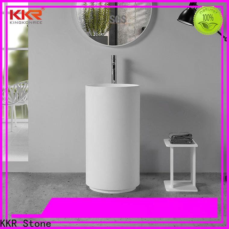 KKR Stone lassic style corian bathroom sinks in good performance for worktops