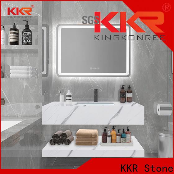 KKR Stone easily repairable corian sink vendor for worktops