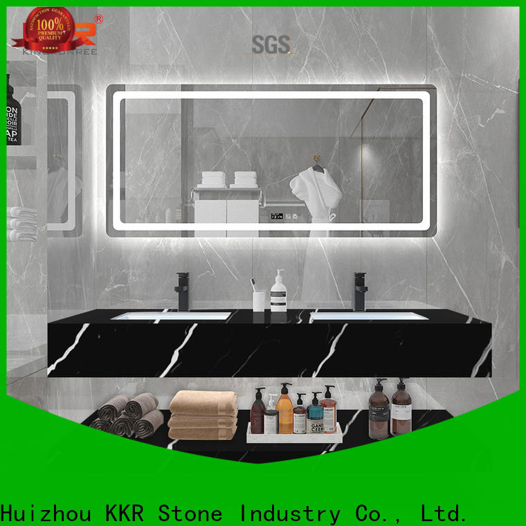KKR Stone modern solid surface basin in good performance for school building