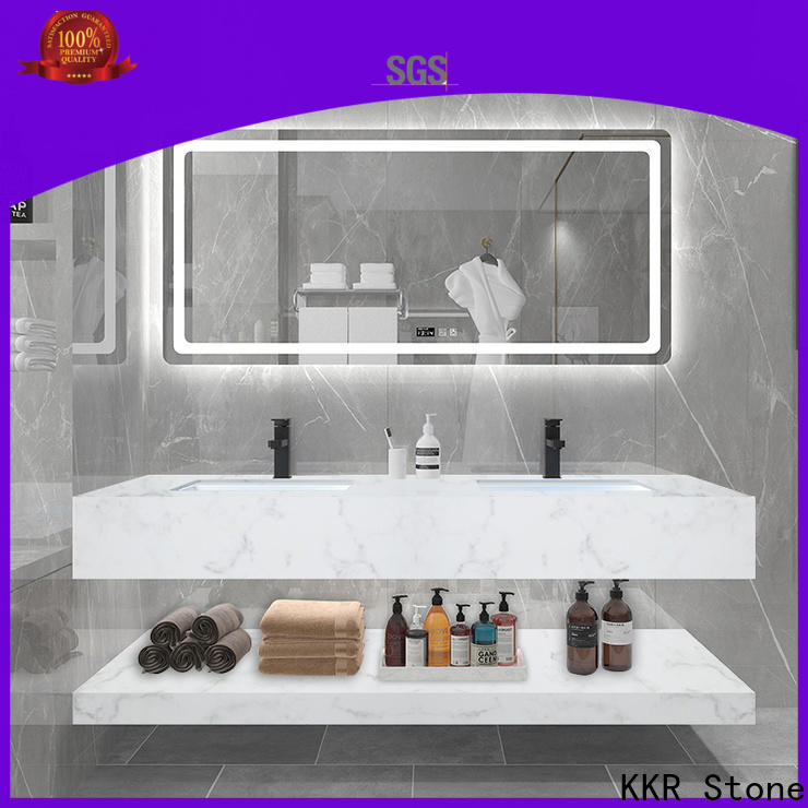 KKR Stone easy to clean corian vanity tops in special shapes for home