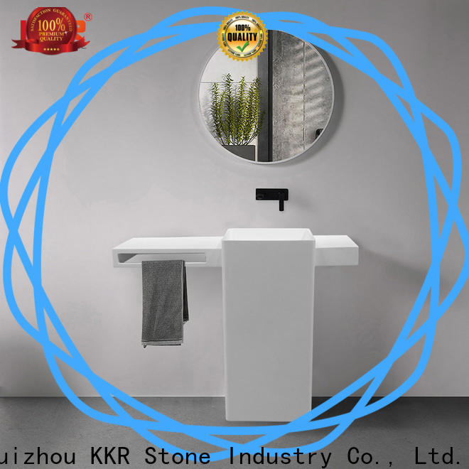 KKR Stone high tenacity bathroom vanity with sink in good performance for worktops