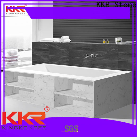 KKR Stone modified solid surface shower pan directly sale for home