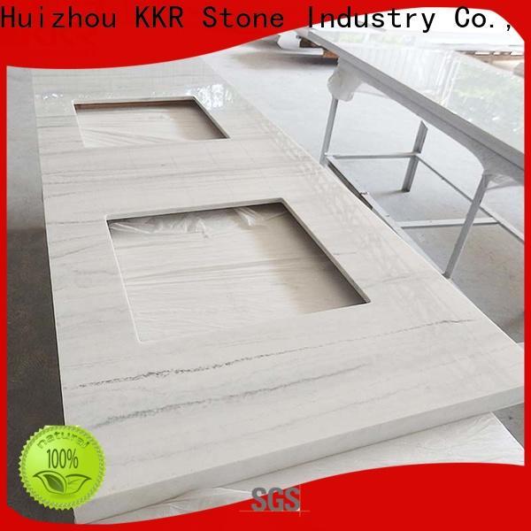 KKR Stone double bathroom vanity tops in-green for school building