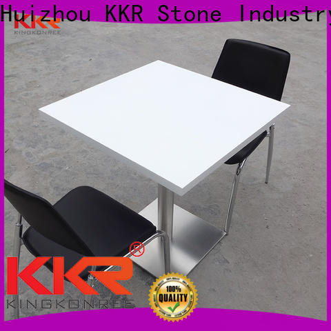 KKR Stone solid artificial marble dining table