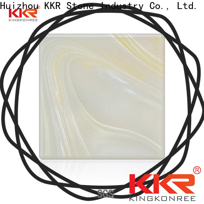 KKR Stone quality translucent resin panel factory price for early education