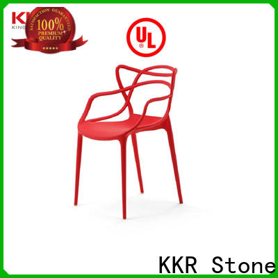 KKR Stone beautiful plastic dining chairs price for outdoor