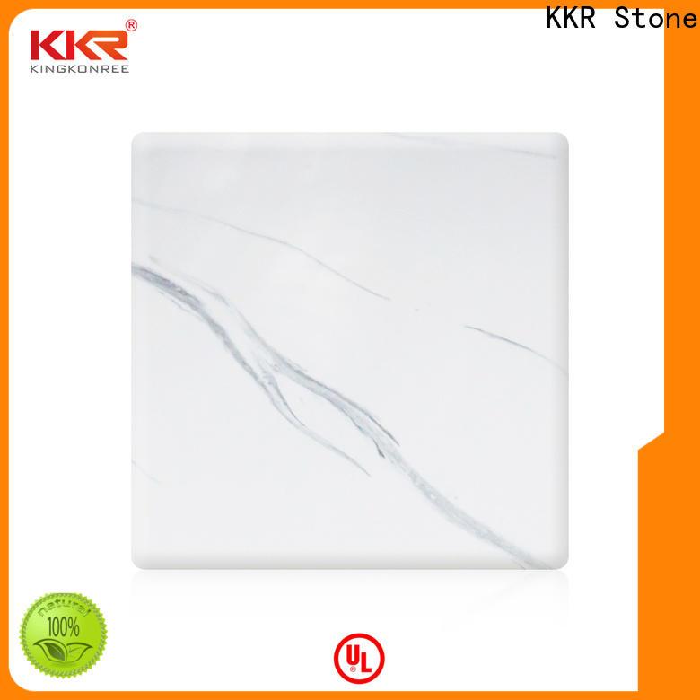 KKR Stone decorative corian solid surface sheet effectively furniture set