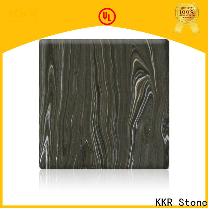 KKR Stone decorative marble solid surface factory for garden table