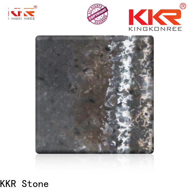 KKR Stone white marble solid surface vendor for school building