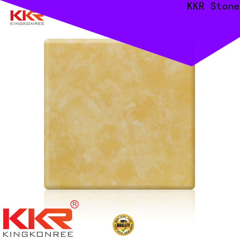 KKR Stone non-polluting translucent stone panel from China for entertainment