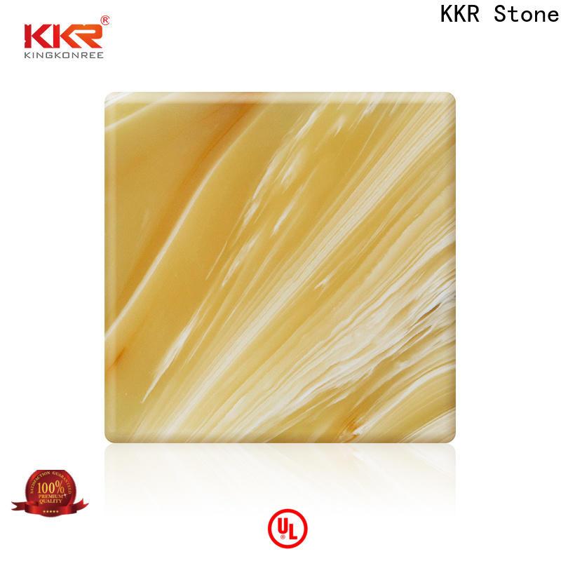 KKR Stone yellow translucent resin panel bulk production for early education