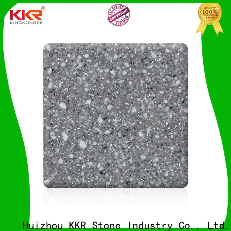 popular acrylic solid surface sheets pure in different shape for bar table