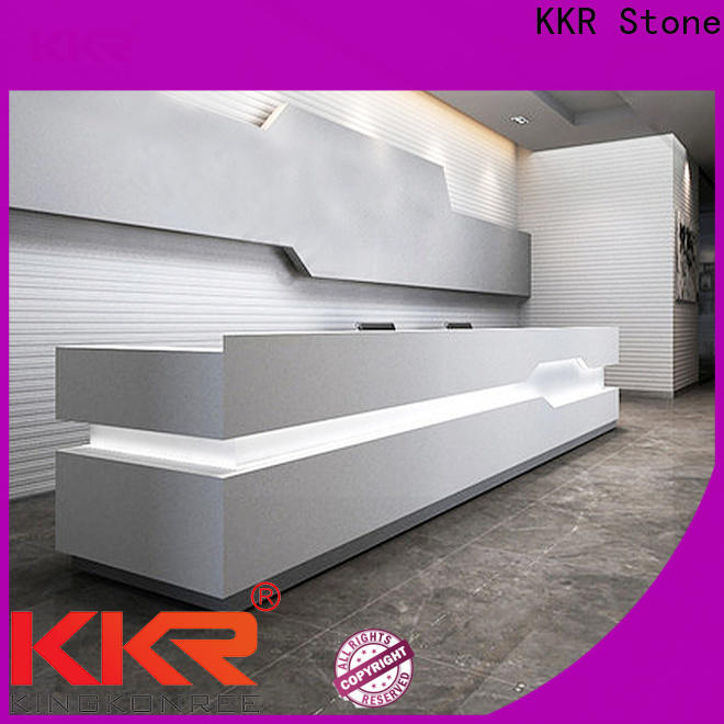 KKR Stone specialshaped acrylic solid surface worktops bulk production for entertainment