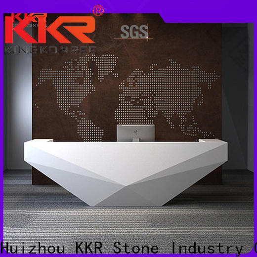 KKR Stone shape reception desk countertop custom-design for building