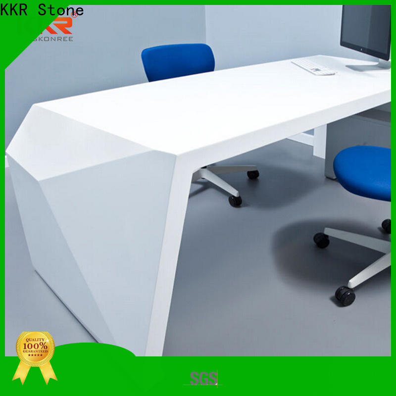 modified acrylic solid surface desk meeting widely-use for early education